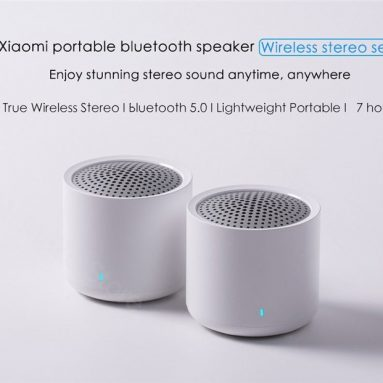 €26 with coupon for Xiaomi XMYX05YM Portable TWS Bluetooth 5.0 Speakers Mini 2.0 Dual-channel Wireless Stereo Bass Subwoofer with HD Mic 2pcs – Black from GEARBEST
