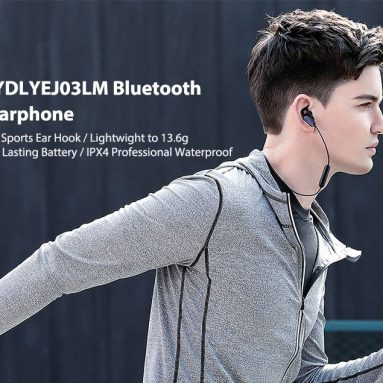 $22 with coupon for Xiaomi YDLYEJ03LM In-ear Sports Earphone Bluetooth Earbuds Youth Edition – BLACK from GearBest