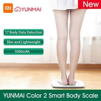 TOMTOPのXiaomi YUNMAI Color 75 Body Smart Scaleのクーポン付き2ドル