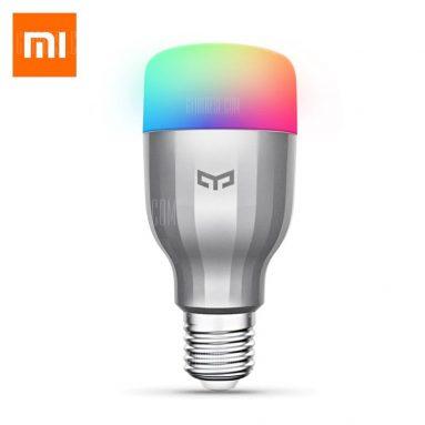 $ 10 с купоном для Xiaomi Yeelight AC220V RGBW E27 Smart LED Bulb - SILVER от GearBest
