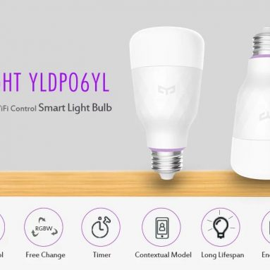 €46 with coupon for 3PCS Yeelight YLDP06YL E27 10W RGBW Smart LED Bulb Work With Amazon Alexa AC100-240V(Xiaomi Ecosystem Product) EU UK WAREHOUSE from BANGGOOD
