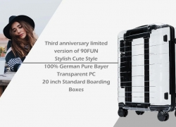 $99 with coupon for Xiaomi Youpin 90FUN Stylish Suitcase 33L Capacity PC Material – TRANSPARENT from GearBest