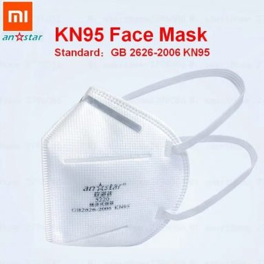 € 159/169 $ s kuponom za 50kom Xiaomi Youpin Anstar N95 Maska za lice KN95 Anti Coronavirus Virus Respirator protiv pjene Zaštita od GEARBEST