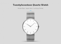 $29 with coupon for Xiaomi youpin TwentySeventeen Light and Fashionable Waterproof Luminous Quartz Watch – NATURAL BLACK from GearBest