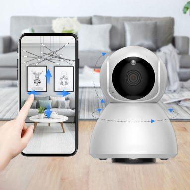 € 17 Xiaovv Q8 HD 1080P için kuponlu 360 ° Panoramik IP Kamera Kızılötesi Gece Görüş AI Hareket Algılama Makinesi AB CZ deposundan xiaomi youpin'den Panoramik Kamera BANGGOOD