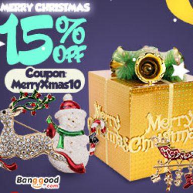 15% OFF Tiệc Giáng sinh vui vẻ từ CÔNG TY TNHH CÔNG NGHỆ BANGGOOD