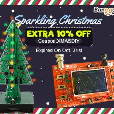 Sparkling Christmas With Extra 10% OFF Kupon Untuk Kit LED DIY! dari BANGGOOD TECHNOLOGY CO., LIMITED