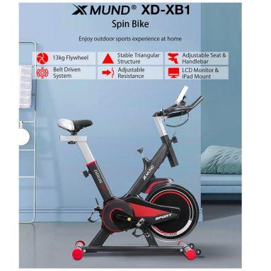 € 239 dengan kupon untuk Xmund XD-XB1 LCD Sepeda Latihan Bersepeda Dalam Ruangan Penyesuaian Ultra-tenang Peralatan Olahraga Sepeda Fitness dengan Roda Beban Maksimum 130kg dari gudang EU CZ BANGGOOD