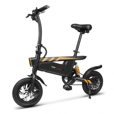60% OFF for Ziyoujiguang T18 12 Inch Folding Power Assist Eletric Bicycle from Cafago WW