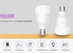 $15 with coupon for Yeelight E27 YLDP06YL Smart Light Bulb 10W RGB WiFi Control from GEARVITA