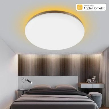 €81 with coupon for YEELIGHT GUANGCAN YLXD50YL 220V 50W Surrounding Ambient Lighting LED Ceiling Light Upgrade Version Dimmable APP Control Supports HomeKit (Xiaomi Ecosystem Product) EU CZ WAREHOUSE from BANGGOOD