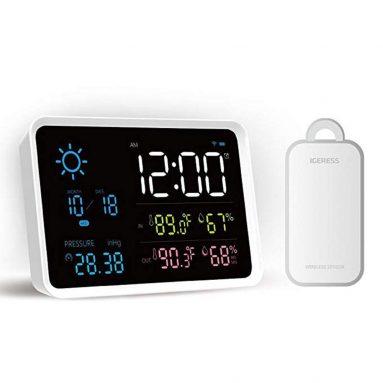 € 16 với phiếu giảm giá cho YUIHome Trong nhà Trạm thời tiết kỹ thuật số ngoài trời nhiệt độ và độ ẩm Hiển thị áp suất khí quyển Đồng hồ báo thức thời tiết từ Xiaomi Youpin từ BANGGOOD