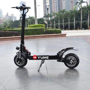 € 750 με κουπόνι για YUME YM-D5 52V 2400W Διπλός κινητήρας 23.4Ah Πτυσσόμενος ηλεκτρικός σκούτερ 65-70km / h Κορυφαία ταχύτητα 80km Εύρος διανυθέντα χιλιόμετρα 10inch Πλατφόρμα πεπιεσμένου αέρα με μέγιστο φορτίο 200kg Scooter από BANGGOOD