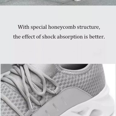 €21 with coupon for YUNCOO Honeycomb I Gen Men Sneakers From Xiaomi Youpin Ultralight Shock Absorption Non-slip Soft Sport Running Shoes from BANGGOOD