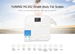 €49 with coupon for YUNMAI M1302 Bluetooth Smart Weighing Scale – WHITE from GearBest