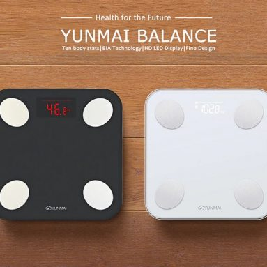 €26 with coupon for XIAOMI YUNMAI Mini 2 Smart Body Fat Scale bluetooth Digital Weight Scale with Free English APP Body Composition BMI Monitor Analyzer from BANGGOOD
