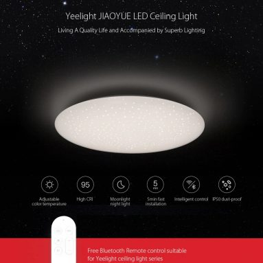 €76 with coupon for Yeelight JIAOYUE YLXD05YL 480 LED Ceiling Light – WHITE WHITE LAMPSHADE EU warehouse from Gearbest