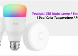 $51 with coupon for Yeelight USB Night Lamp / Smart Bulb ( Dual Color Temperature / RGBW ) – WHITE from GearBest