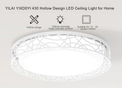 $69 with coupon for Yeelight YILAI YIXD0Yl 430 Hollow Design LED Smart Ceiling Light for Home from GearBest