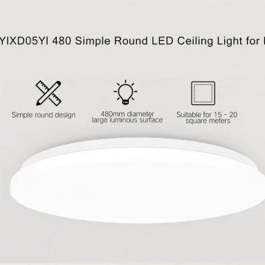 63 دولارًا مع قسيمة لـ Yeelight YILAI YlXD05Yl 480mm 34W Simple Round LED Smart Ceiling Light for Home Star Version (Xiaomi Ecosystem Product) EU WAREHOUSE من GEARBEST