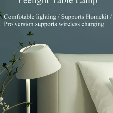 €72 with coupon for Yeelight YLCT02YL 6W Desk Lamp Smart WIFI Touch Dimmable / YLCT03YL 18W LED Table Light Pro Wireless Charging For iPhone (Xiaomi Ecosystem Product) – YLCT02YL table lamp from BANGGOOD