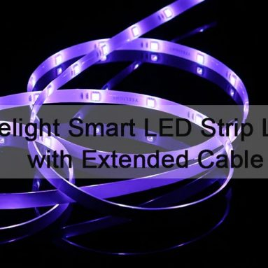 Yeelight YLDD51YL 무선 WiFi 04m LED 스마트 스트립 라이트 용 2 - 백색 EU 플러그 / 연장 케이블 X 220 / 2 X GearBest의 LED 스트립 라이트