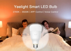 $54 with coupon for Yeelight YLDP05YL Smart LED Bulb Dimmable AC 100 – 240V 10W 3PCS from GearBest