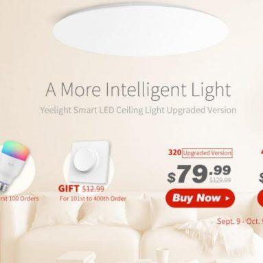 $ 94 với phiếu giảm giá cho Yeelight YLXD42YL 480mm Đèn trần LED thông minh Hỗ trợ HomeKit Siri Phiên bản nâng cấp (Sản phẩm hệ sinh thái Xiaomi) - Phiên bản màu trắng tinh khiết từ GEARBEST