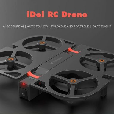 $219 with coupon for Youpin Foldable HD 1080P FPV iDol RC Drone – BLACK RTF ( WITH TRANSMITTER, 2 BATTERIES ) from GearBest