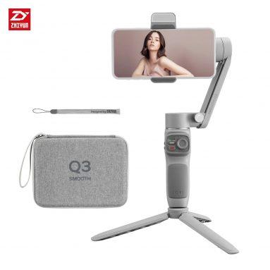 97 USD cu cupon pentru ZHIYUN SMOOTH Q3 Handheld 3 Axe Smartphone Gimbal Stabilizer de la TOMTOP