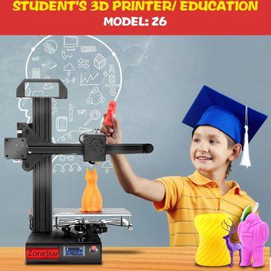 $ 99 με κουπόνι για zonestar Z6 Γρήγορη συναρμολόγηση Εκτυπωτής 3D 150 x 150 x 150MM - Μαύρη EU Plug από Gearbest