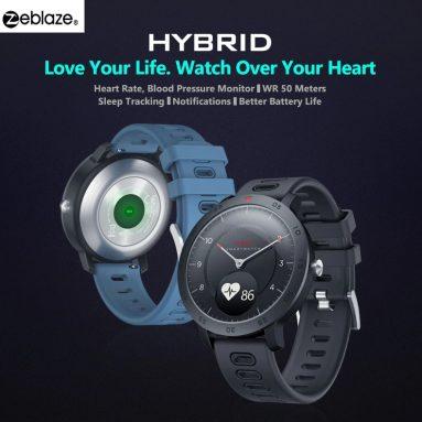 Zeblaze HYBRID दोहरी मोड यांत्रिक स्मार्ट घड़ी के लिए कूपन के साथ € 27 - GEARBEST से काला