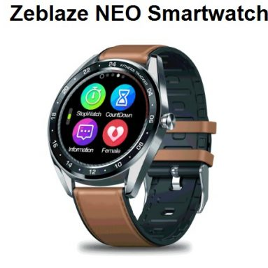 $33 with coupon for Zeblaze NEO 1.3inch Full-round Touch Screen Blood Pressure Heart Rate Monitor Female Physiological Check Countdown Stopwatch Silicone+Leather Band Smart Watch from BANGGOOD