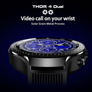 $104 with coupon for Zeblaze THOR 4 Dual 4G Smartwatch Phone – Black from GearBest