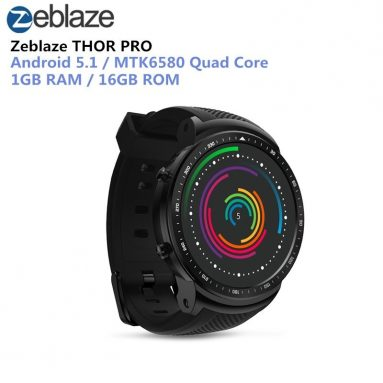 €60 with coupon for Zeblaze THOR PRO 3G 1.53inch IPS Display 1GB+16GB GPS WIFI Android 5.1 Camera Smart Watch Phone from BANGGOOD