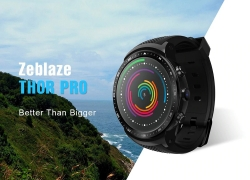 $79 with coupon for Zeblaze THOR PRO 3G Smart Watch Phone With 1GB+16GB from TOMTOP