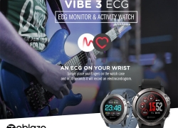 $40 with coupon for Zeblaze VIBE 3 ECG Sports Smartwatch Bluetooth 4.0 from GEARVITA