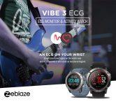 GEARVITAのZeblaze VIBE 40 ECGスポーツスマートウォッチBluetooth 3のクーポン付き$ 4.0