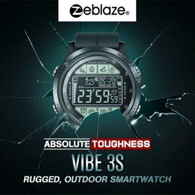 $ 19 với phiếu giảm giá cho Zeblaze VIBE 3S Độ bền tuyệt đối Thời gian thực Hiển thị mục tiêu Thời gian thực Thiết lập Thông báo Nhắc nhở 1.24inch FSTN Hiển thị toàn màn hình Đồng hồ thông minh thể thao ngoài trời từ BANGGOOD