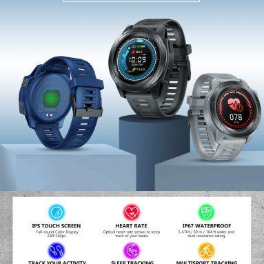 € 41 avec coupon pour Zeblaze VIBE 5 PRO 1.3inch Moniteur de fréquence cardiaque avec écran tactile rond complet Moniteur de données sportives Suivi de la luminosité de la montre intelligente - Bleu de BANGGOOD