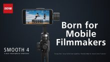 €89 with coupon for Zhiyun Smooth 4 Handheld Gimbal PhoneGo Mode – BLACK from GearBest
