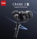 € 374 med kupong for Zhiyun-Tech CRANE 2S 3-Axis Bluetooth 5.0 Håndholdt Gimbal Stabilizer Standard Kit med stativ for DSLR speilfritt kamera fra BANGGOOD