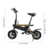 $459 with coupon for Ziyoujiguang T18 15.74 Inch Folding Eletric Bicycle from TOMTOP