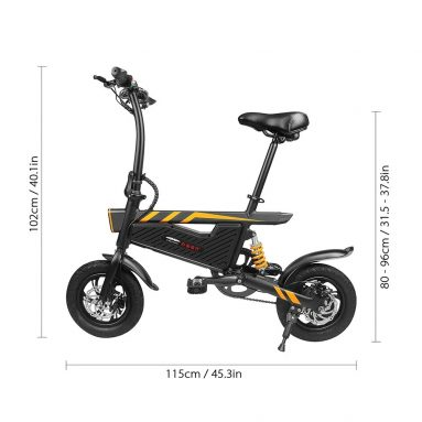 € 359 med kupon til Ziyoujiguang T18 6Ah 36V 250W 12 tommer Foldning Electric Bicycle UK WAREHOUSE fra BANGGOOD