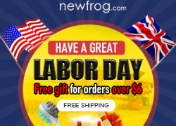 Have A great Labor Day-The Gift is Free For Orders Over $6 from Newfrog.com
