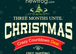 Three Months Untill Christmas–Crazy Countdown Deal from Newfrog.com