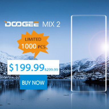 Only $199.99(AU$268) for DOOGEE MIX 2 4G Smartphone, 1000 pcs only   from BANGGOOD TECHNOLOGY CO., LIMITED