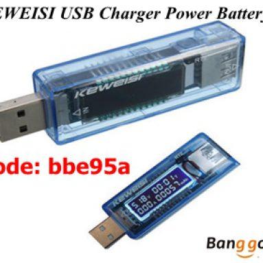 Dagdag na 20% OFF KEWEISI USB Charger Power Baterya Kapasidad Tester Boltahe Kasalukuyang Metro mula BANGGOOD TECHNOLOGY CO., LIMITADO