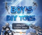 20% OFF for  Boy's DIY Toys Promotion from BANGGOOD TECHNOLOGY CO., LIMITED