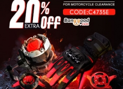 20% OFF Coupon for Motocycle Clearance from BANGGOOD TECHNOLOGY CO., LIMITED
